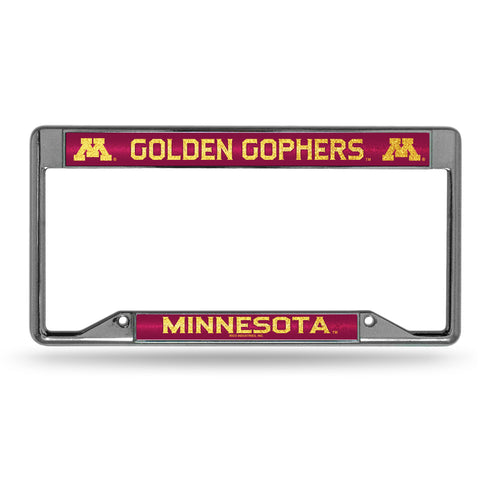 UNIVERSITY OF MINNESOTA INVERTED BLING CHROME FRAME