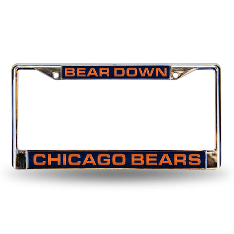 "BEARS ""BEAR DOWN"" LASER CHROME FRAME"