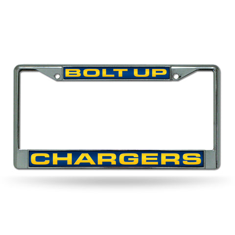 "LOS ANGELES CHARGERS ""BOLT UP"" LASER CHROME FRAME"