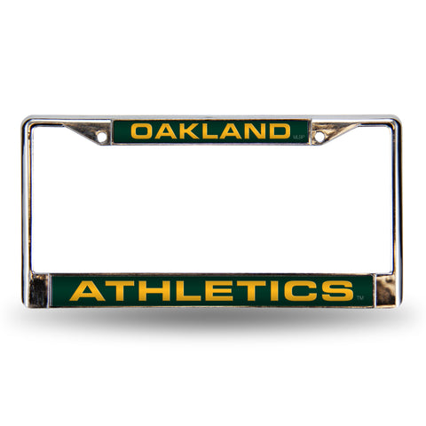 OAKLAND A'S GREEN LASER CHROME FRAME
