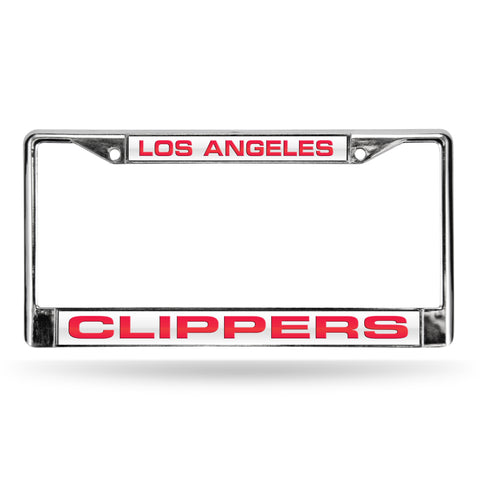 CLIPPERS LASER CHROME FRAME  - WHITE BACKGROUND WITH RED LETTERS