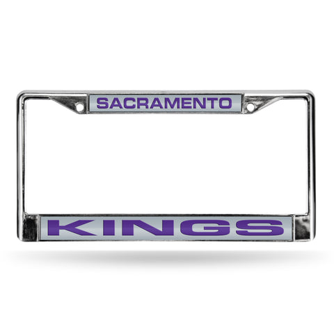 KINGS - SAC LASER CHROME FRAME  - SILVER BACKGROUND WITH PURPLE LETTERS