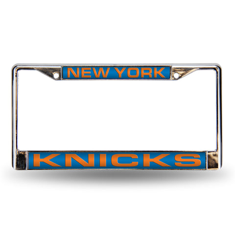 NEW YORK KNICKS BLUE LASER CHROME FRAME