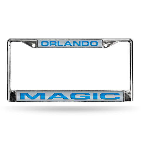 MAGIC LASER CHROME FRAME  - SILVER BACKGROUND WITH ROYAL LETTERS