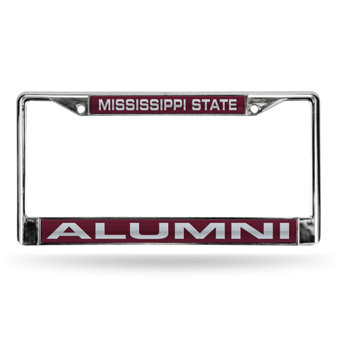MISSISSIPPI STATE ALUMNI RED LASER CHROME FRAME