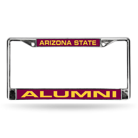 ARIZONA STATE ALUMNI RED LASER CHROME FRAME