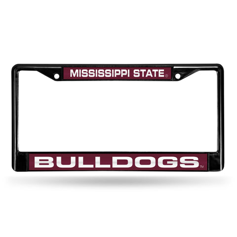 MISSISSIPPI STATE BLACK LASER CHROME FRAME