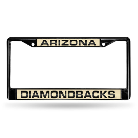 ARIZONA DIAMONDBACKS BLACK LASER CHROME FRAME Version 1