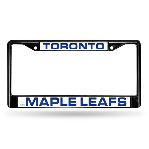 TORONTO MAPLE LEAFS BLACK LASER CHROME FRAME