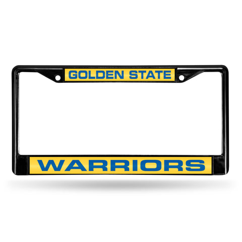 GOLDEN STATE WARRIOR BLACK LASER CHROME FRAME