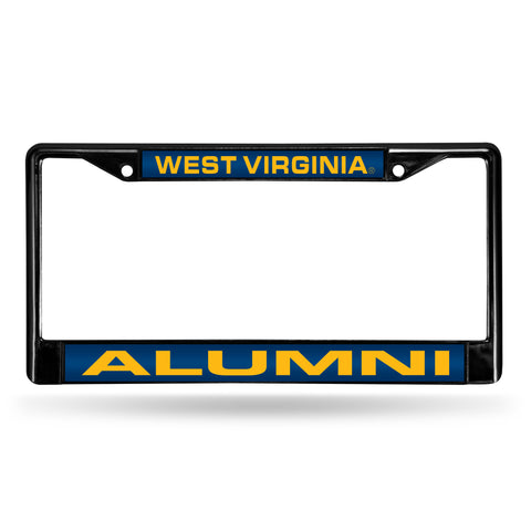 WEST VIRGINIA ALUMNI BLACK LASER FRAME