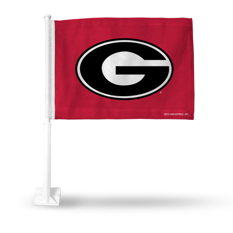 GEORGIA 'G' RED CAR FLAG