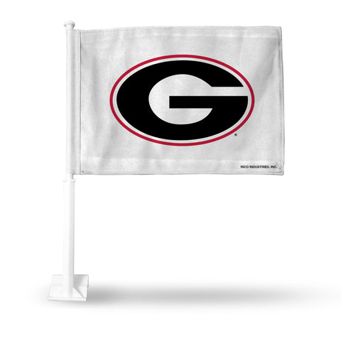 "GEORGIA ""G"" ON WHITE CAR FLAG"