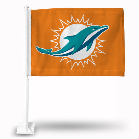 "DOLPHINS "" LOGO ONLY"" CAR FLAG  