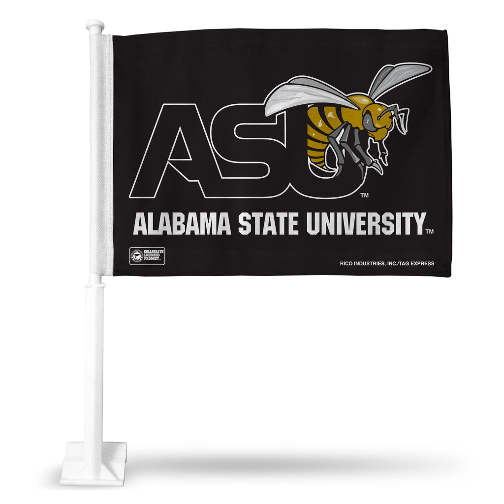 ALABAMA STATE BLACK BKG CAR FLAG