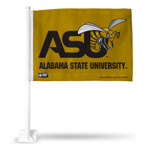 ALABAMA STATE GOLD BKG CAR FLAG