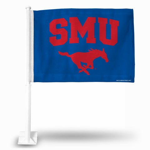 SOUTHERN METHODIST FG CAR FLAG (WHITE POLE) Version 1