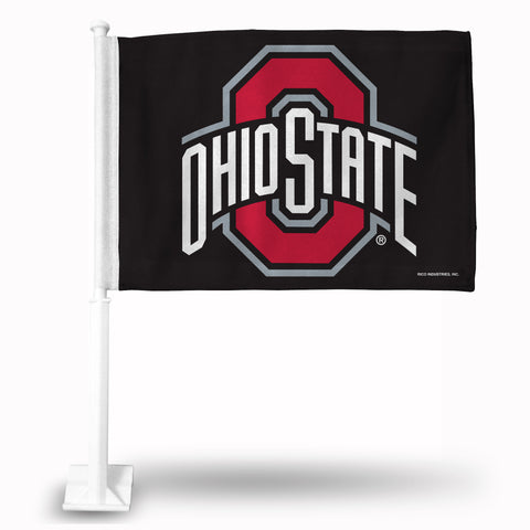 OHIO STATE BLACK CAR FLAG