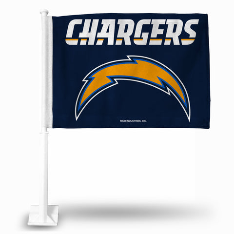LOS ANGELES CHARGERS BOLT/WORDMARK CAR FLAG