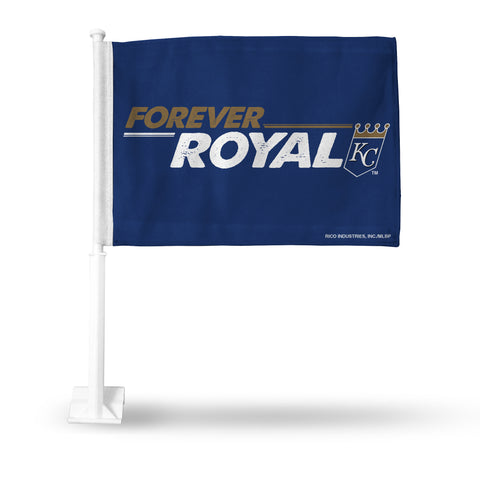 "KANSAS CITY ROYALS ""FOREVER ROYAL"" CAR FLAG - HORIZONTAL LOGO"