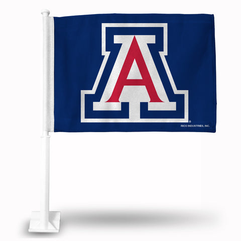"ARIZONA ""A"" LOGO ON BLUE CAR FLAG"