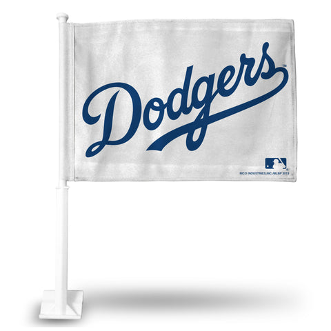 DODGERS (WHITE) CAR FLAG