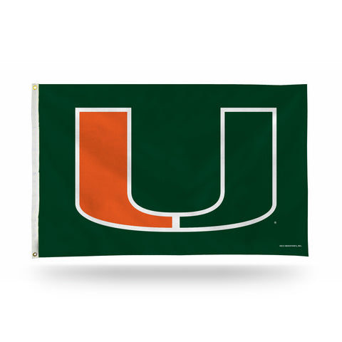 MIAMI HURRICANES BANNER FLAG