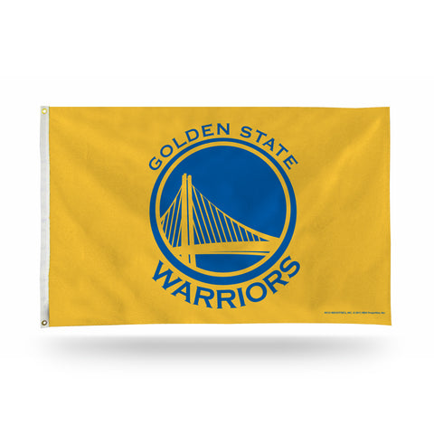 GOLDEN ST WARRIORS BANNER FLAG - YELLOW BACKGROUND