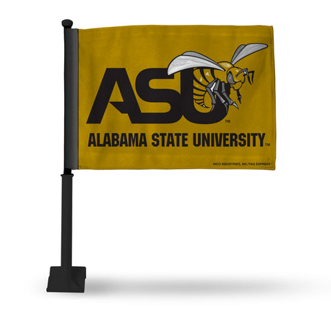 ALABAMA STATE CAR FLAG - BLACK POLE