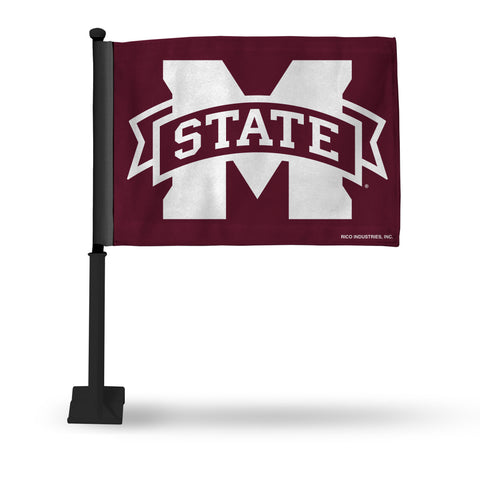 MISSISSIPPI STATE CAR FLAG - BLACK POLE