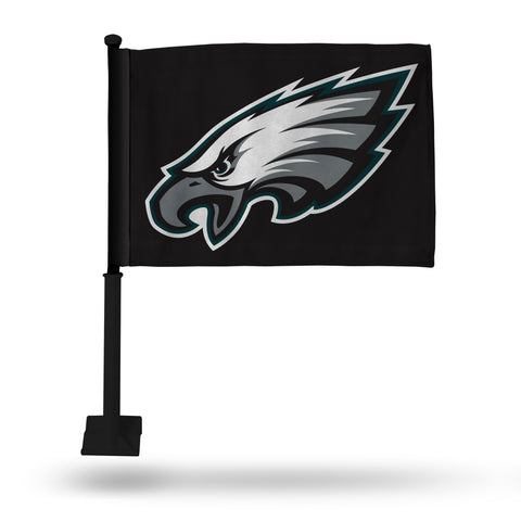 EAGLES CAR FLAG - BLACK POLE