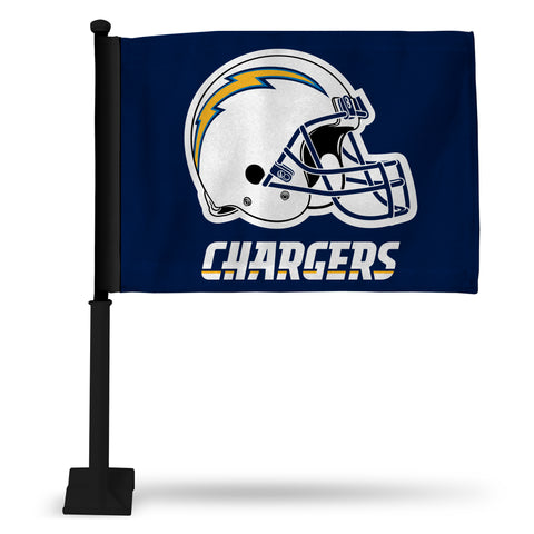 LOS ANGELES CHARGERS CAR FLAGS - BLACK POLE