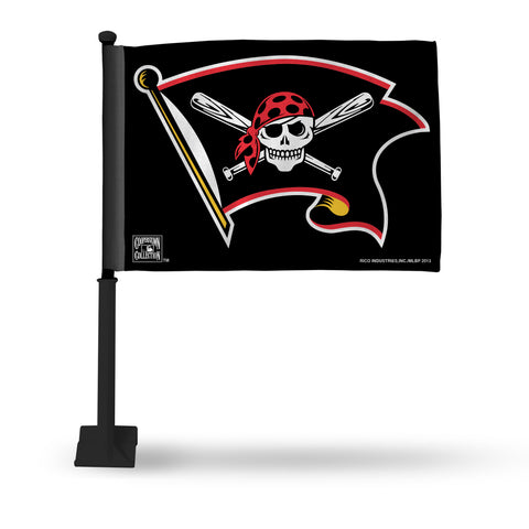 PIRATES CAR FLAG - BLACK POLE