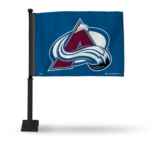 COLORADO AVALANCHE CAR FLAG - BLACK POLE