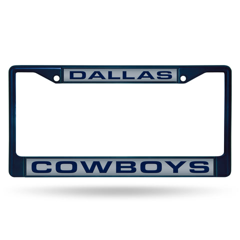 COWBOYS NAVY LASER COLORED CHROME FRAME