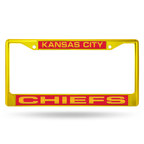 CHIEFS YELLOW LASER COLORED CHROME FRAME