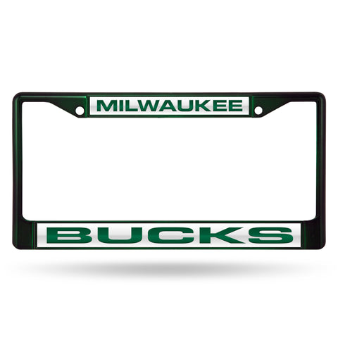 BUCKS DARK GREEN LASER COLORED CHROME FRAME