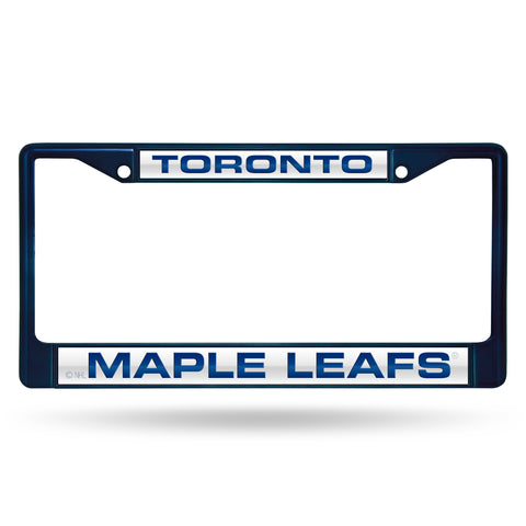 MAPLE LEAFS NAVY LASER COLORED CHROME FRAME