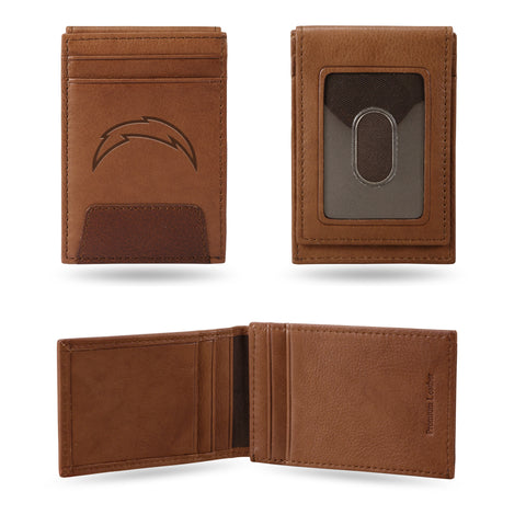 LOS ANGELES CHARGERS PREMIUM LEATHER FRONT POCKET WALLET