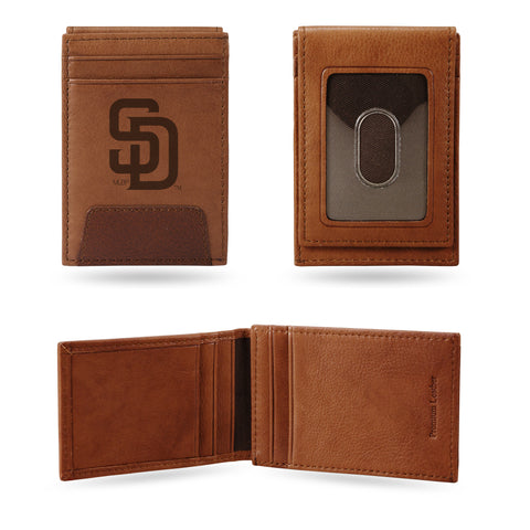 PADRES PREMIUM LEATHER FRONT POCKET WALLET