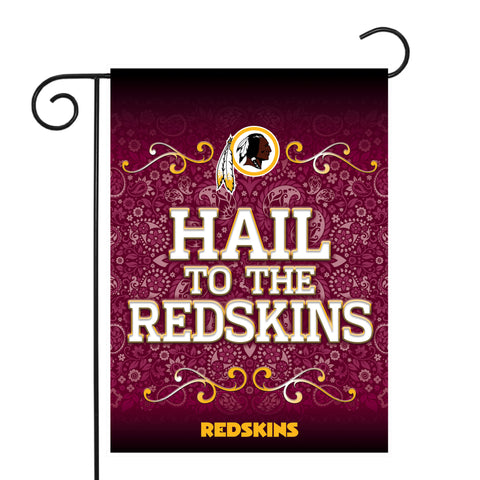 "REDSKINS GARDEN FLAG (13"" X 18"") WITH POLE"