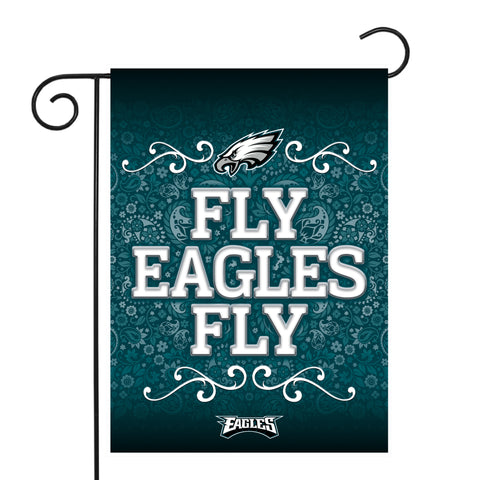 "EAGLES GARDEN FLAG (13"" X 18"") WITH POLE"