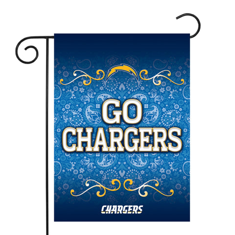 "CHARGERS GARDEN FLAG (13"" X 18"") WITH POLE"