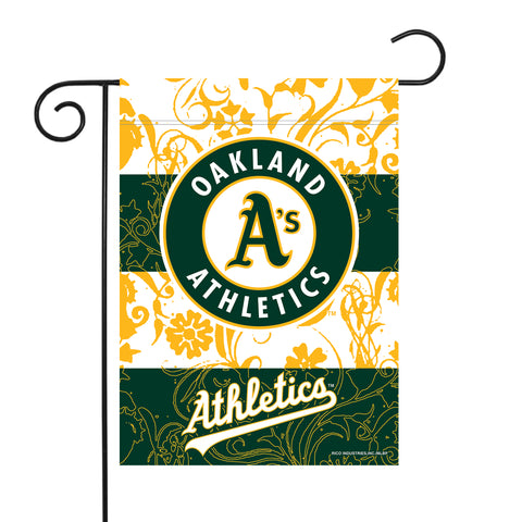 "ATHLETICS GARDEN FLAG (13"" X 18"") WITH POLE"