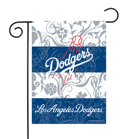 "DODGERS GARDEN FLAG (13"" X 18"") WITH POLE"