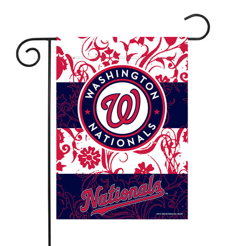 "NATIONALS GARDEN FLAG (13"" X 18"") WITH POLE"