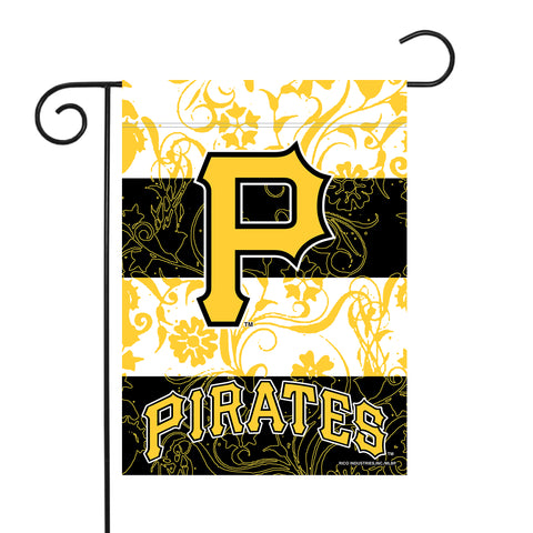 "PIRATES GARDEN FLAG (13"" X 18"") WITH POLE"