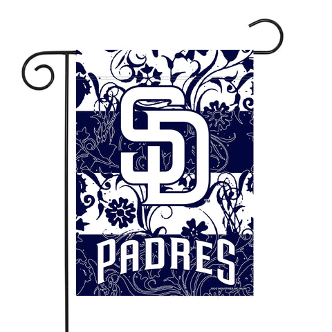 "PADRES GARDEN FLAG (13"" X 18"") WITH POLE"