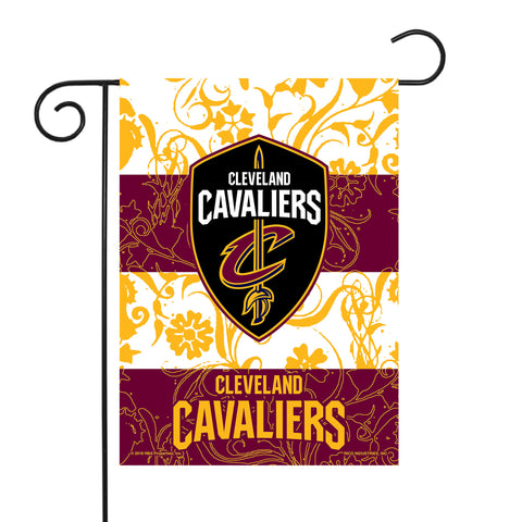 "CAVALIERS GARDEN FLAG (13"" X 18"") WITH POLE"