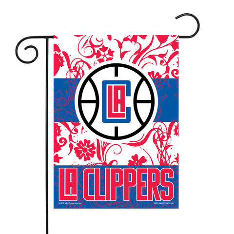 "CLIPPERS GARDEN FLAG (13"" X 18"") WITH POLE"